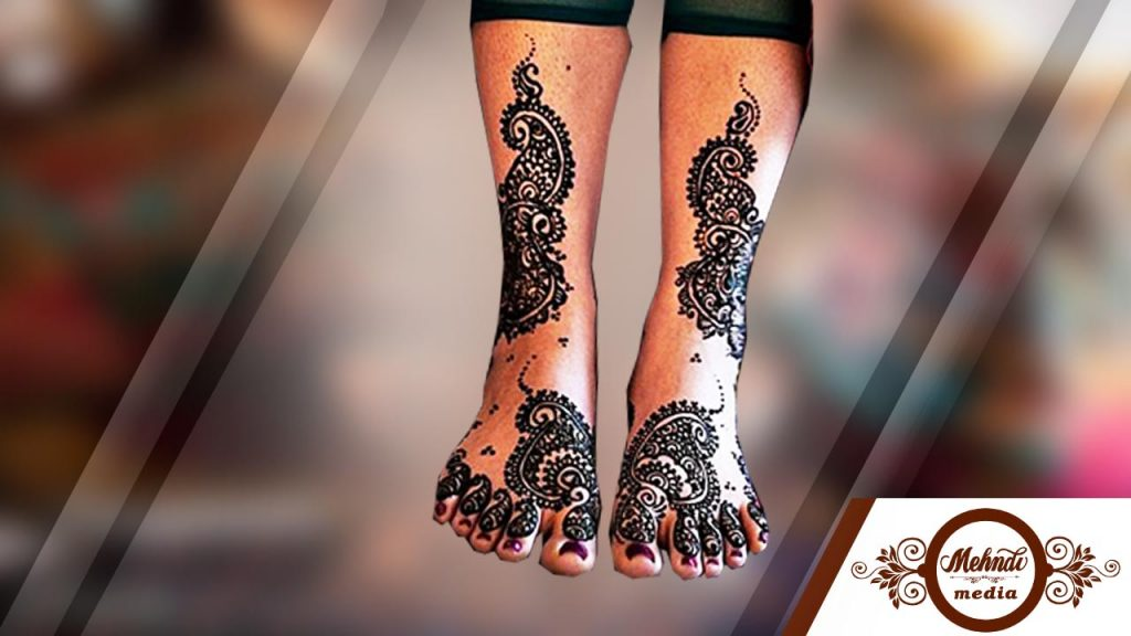 Mehndi On Leg : Amazing mehndi designs for legs and feets simple