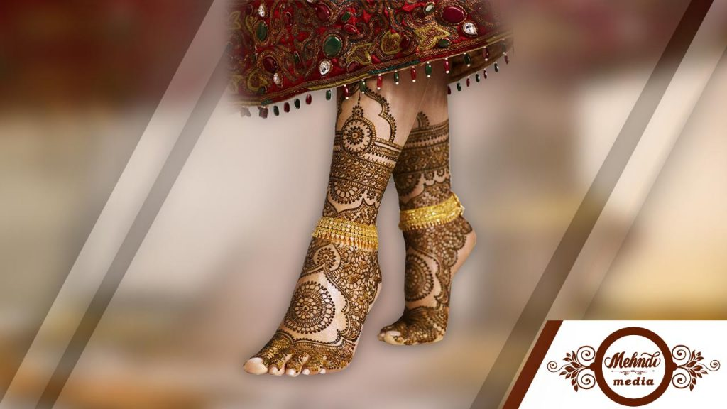 Mehndi Design For Legs For Marriage