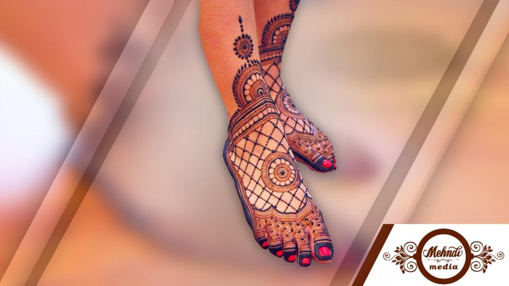 henna designs for feet arabic