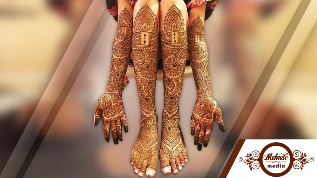 latest bridal mehndi designs for legs