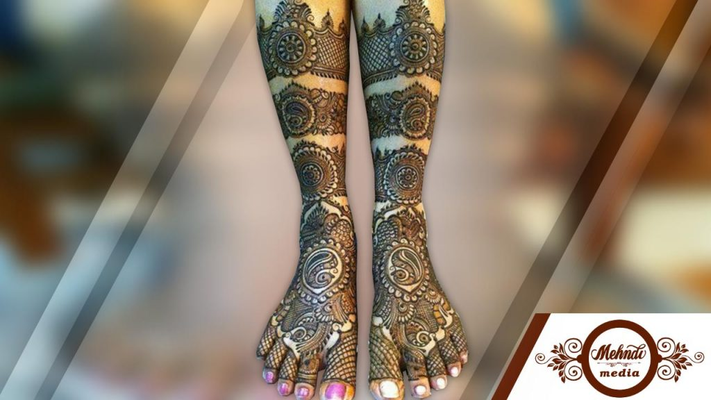 henna designs on legs latest 2018