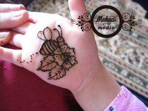 Floral Mehndi Design For Kids Front Hand
