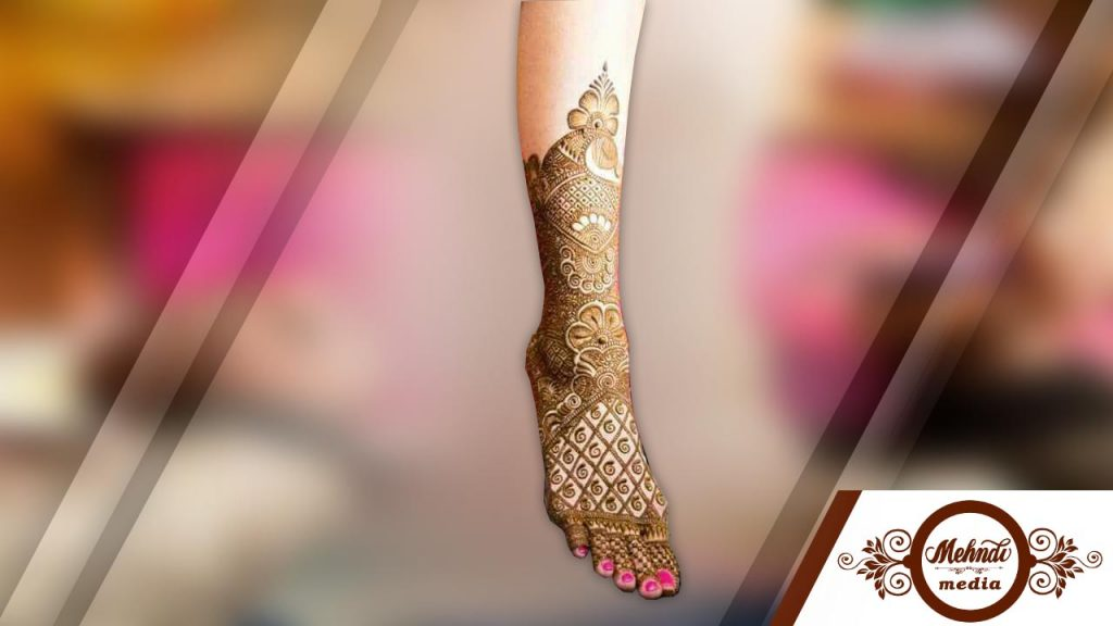 bridal henna designs for legs