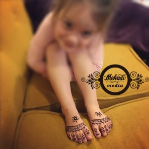 Kids Mehndi Designs For Feet