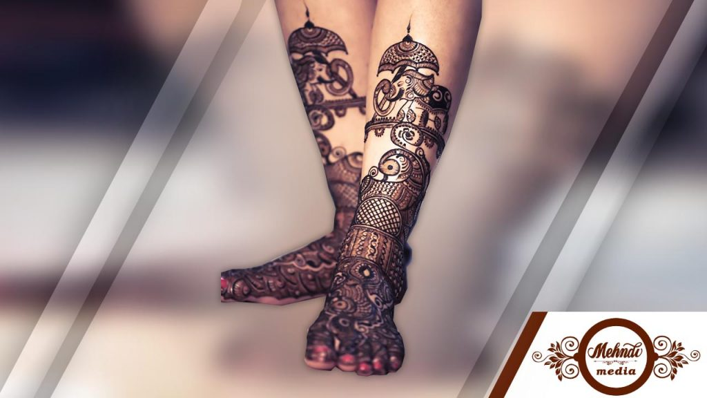 latest henna designs for legs