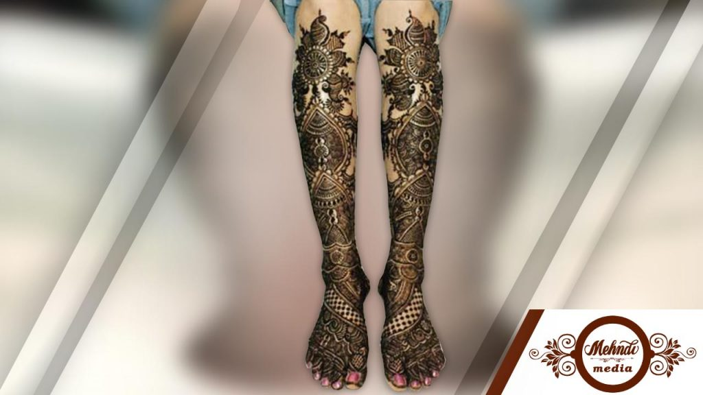 thigh henna designs