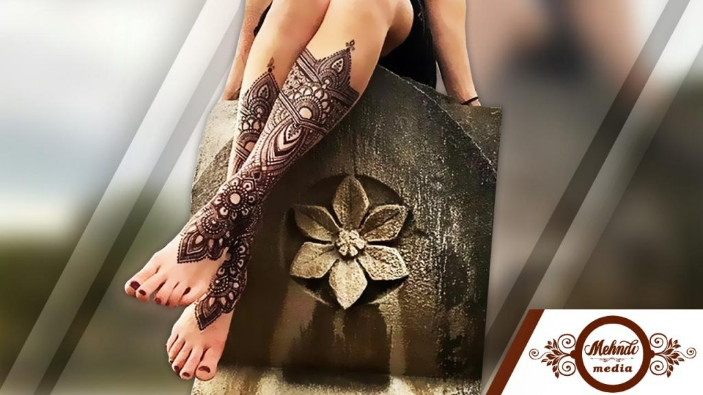 easy henna for legsfor beginners