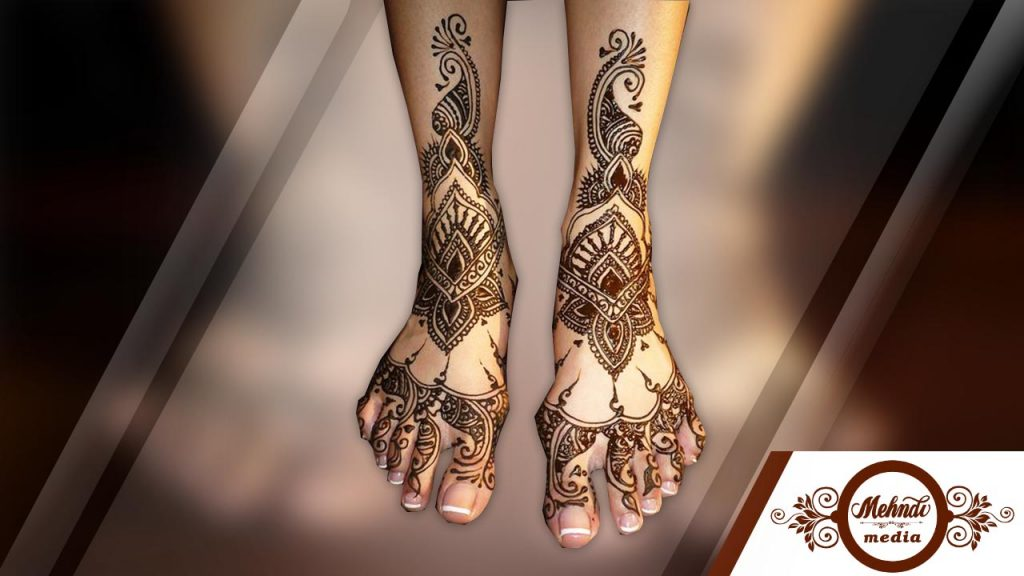 foot henna designs simple