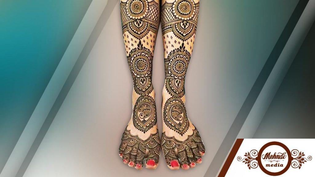 dubai henna designs for legs