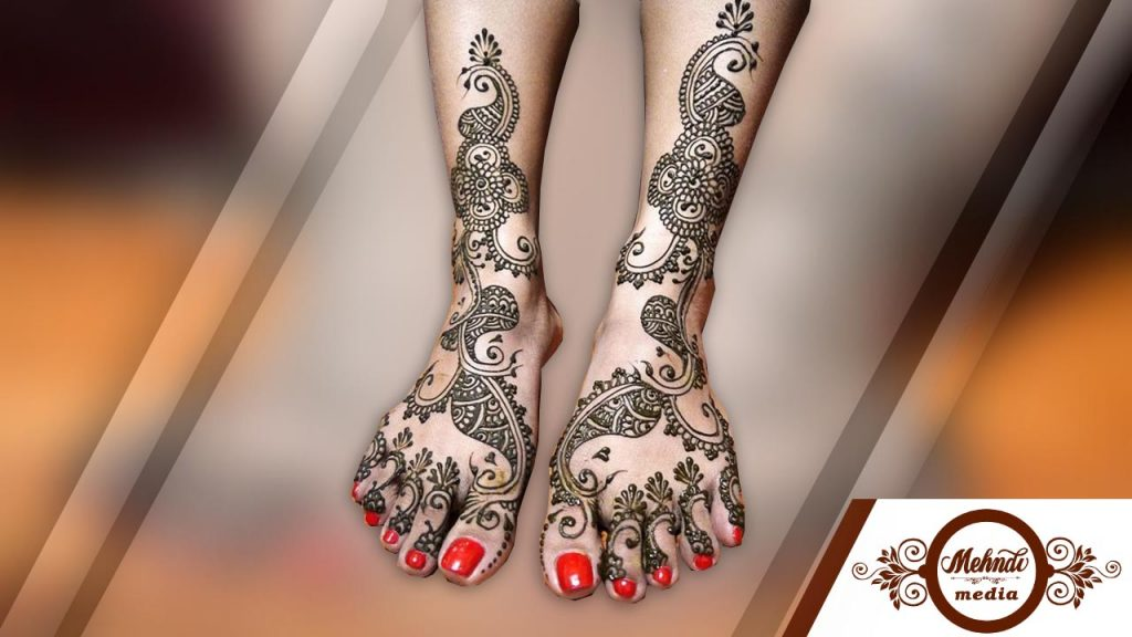 bridal henna mehndi designs for legs