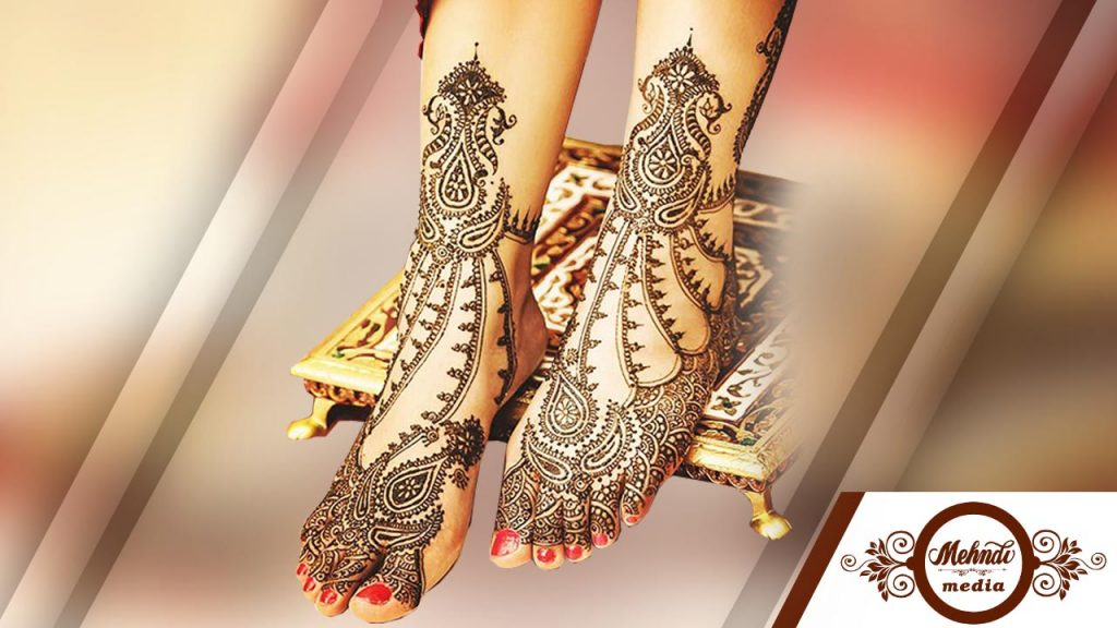 dulhan mehndi designs for hands and legs