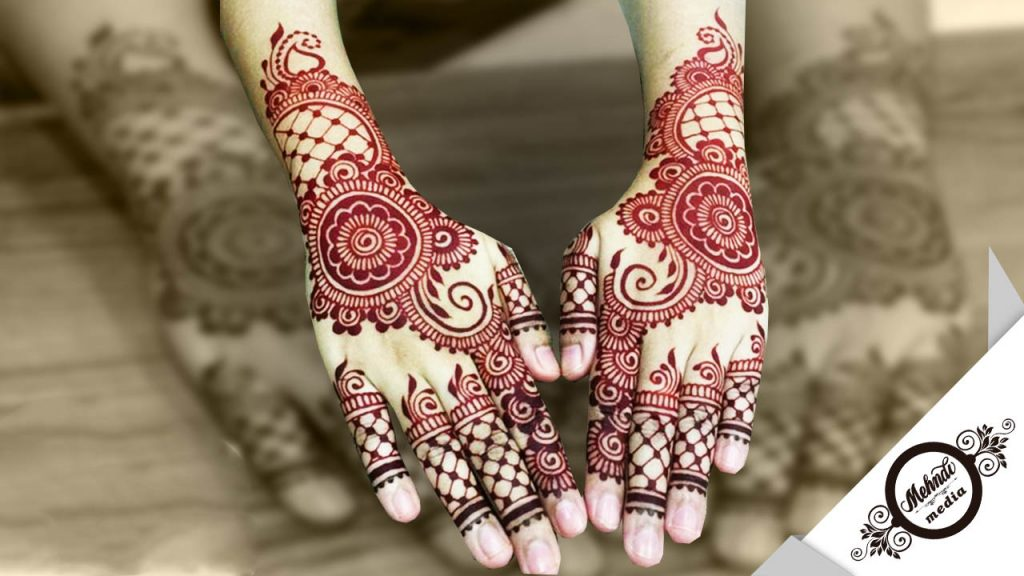 bridal mehndi designs for front hands