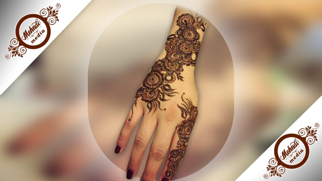 back hand henna pattern for eid ul fitre 2018